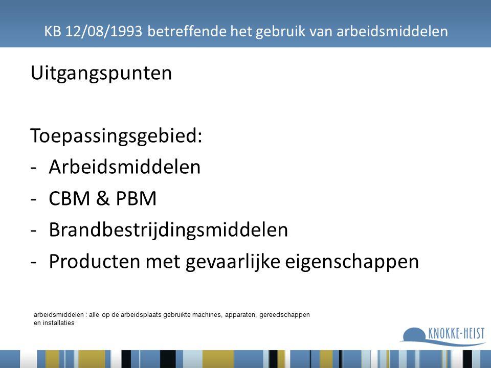 KB 12/08/1993 betreffende het gebruik van arbeidsmiddelen