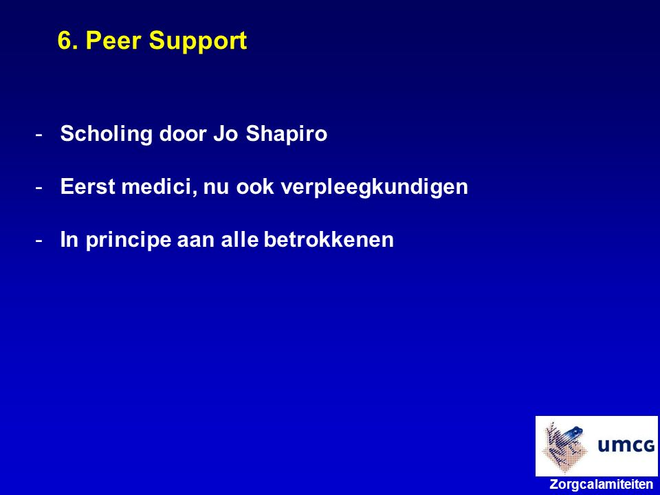 6. Peer Support Scholing door Jo Shapiro