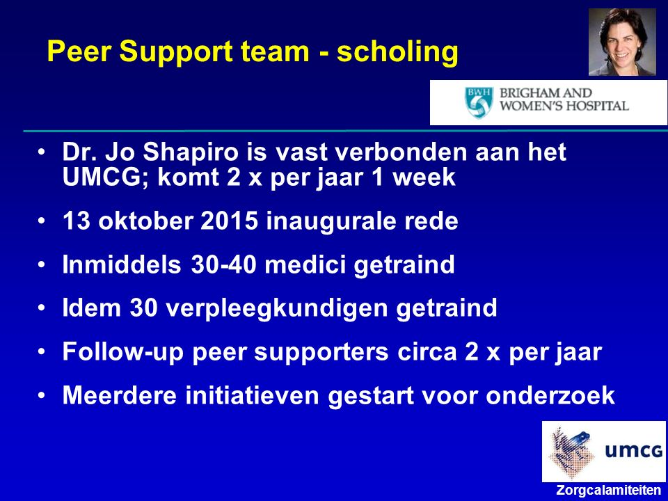 Peer Support team - scholing