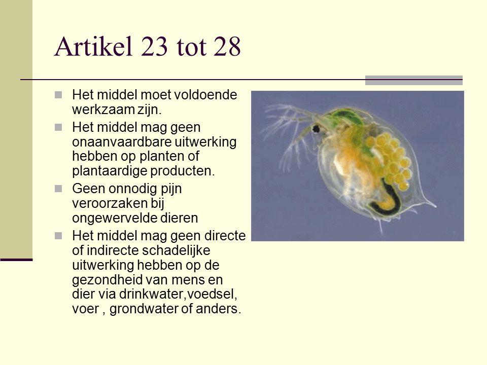 Artikel 23 tot 28 Het middel moet voldoende werkzaam zijn.
