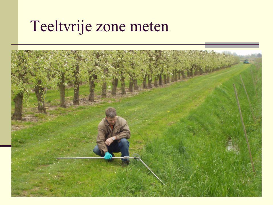Teeltvrije zone meten