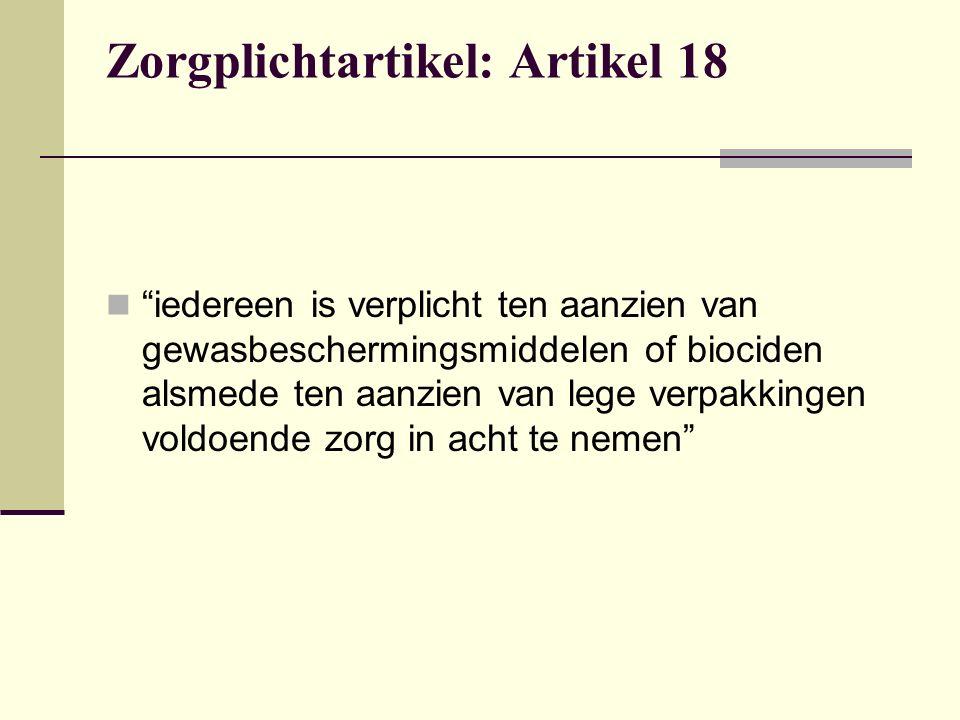 Zorgplichtartikel: Artikel 18