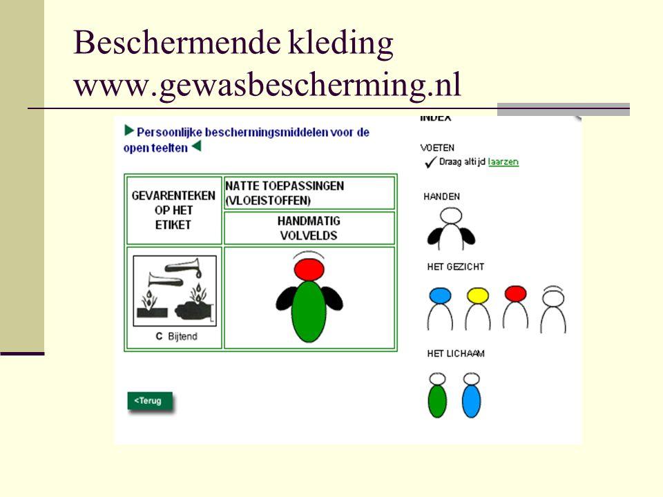 Beschermende kleding www.gewasbescherming.nl
