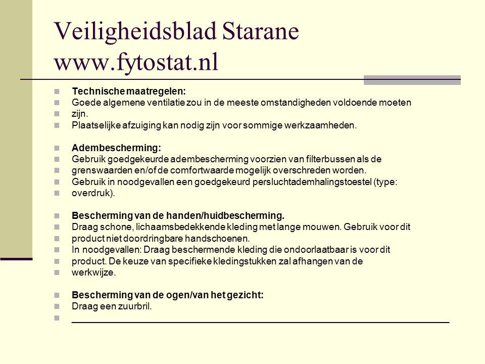 Veiligheidsblad Starane www.fytostat.nl
