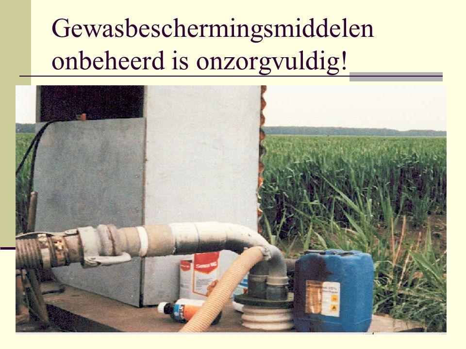 Gewasbeschermingsmiddelen onbeheerd is onzorgvuldig!