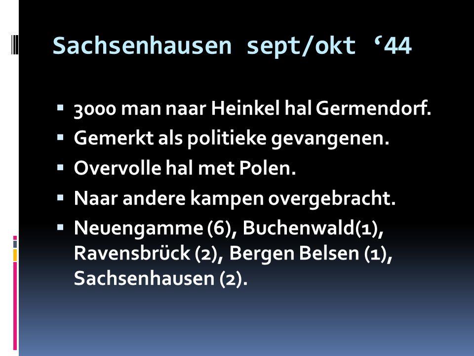 Sachsenhausen sept/okt '44