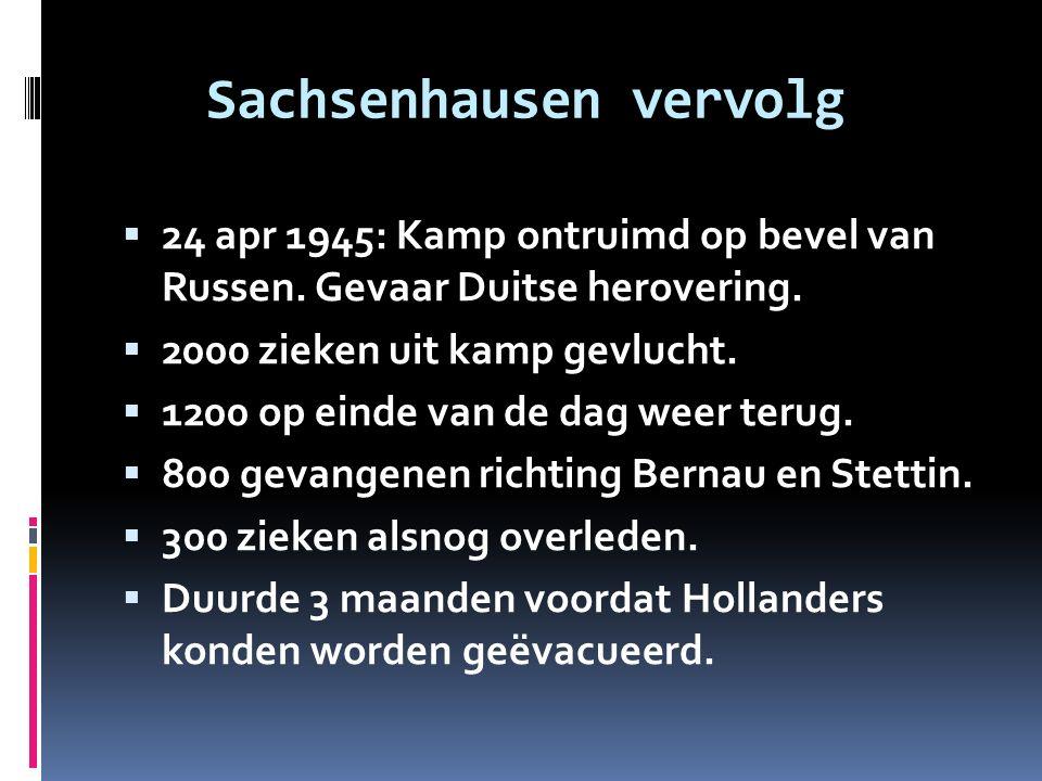 Sachsenhausen vervolg