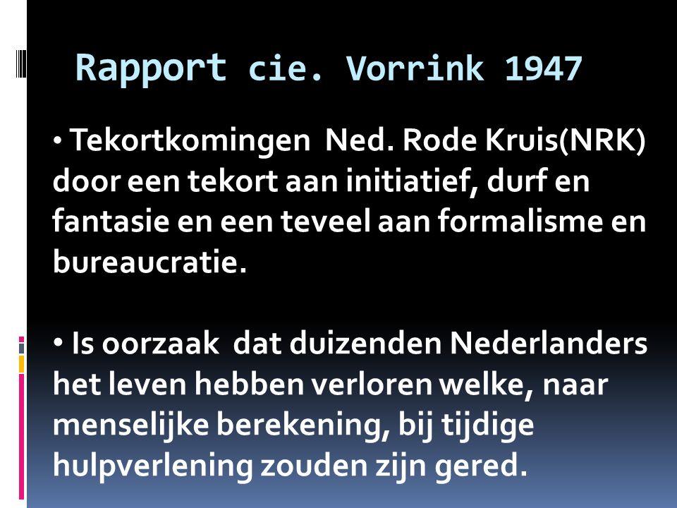 Rapport cie. Vorrink 1947