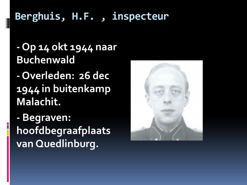 Berghuis, H.F. , inspecteur