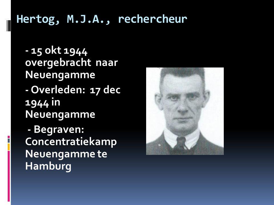 Hertog, M.J.A., rechercheur