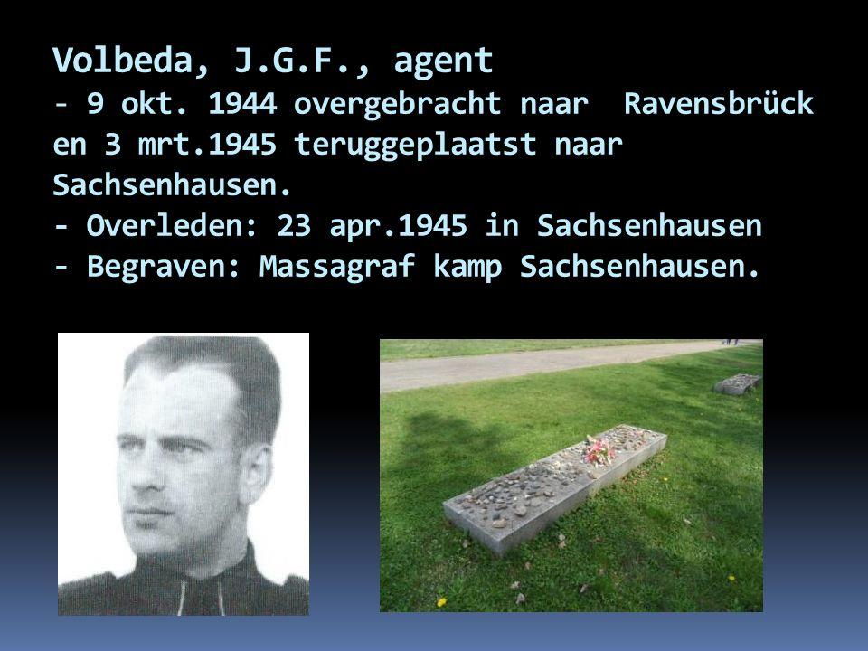 Volbeda, J.G.F., agent - 9 okt.