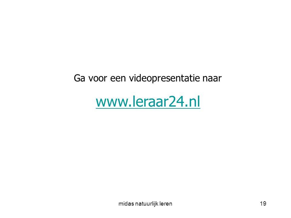 www.leraar24.nl Ga voor een videopresentatie naar