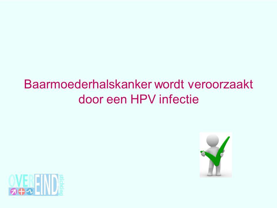 Baarmoederhalskanker wordt veroorzaakt door een HPV infectie