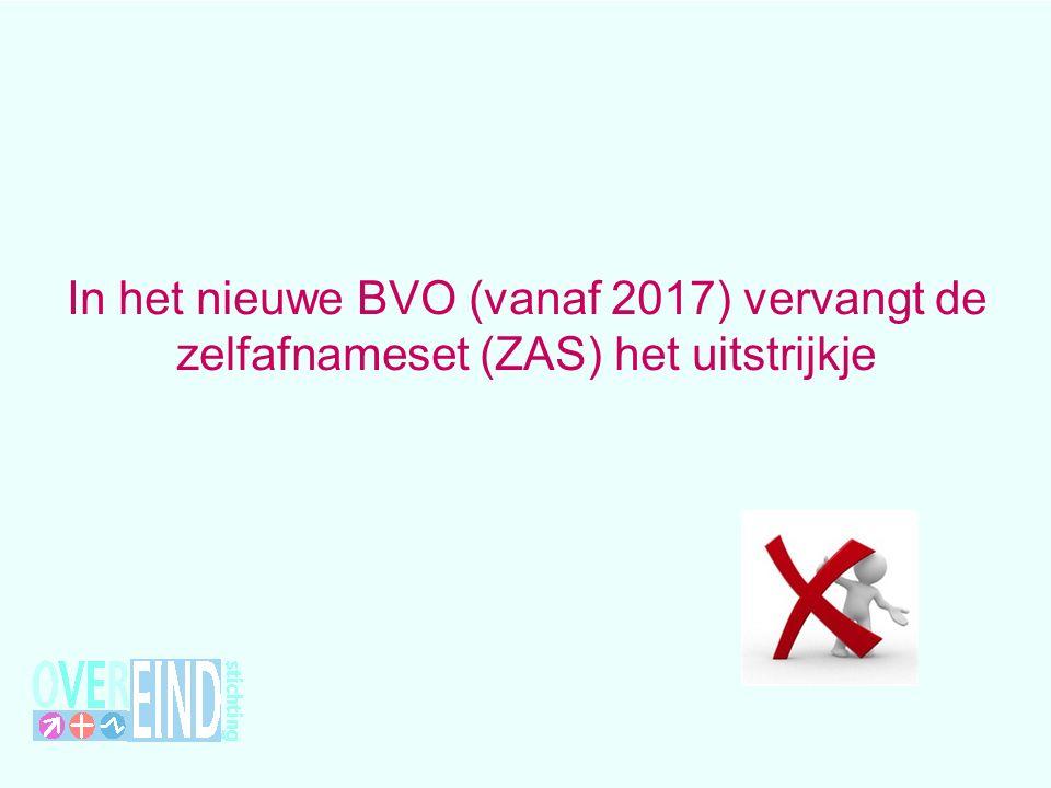 In het nieuwe BVO (vanaf 2017) vervangt de zelfafnameset (ZAS) het uitstrijkje