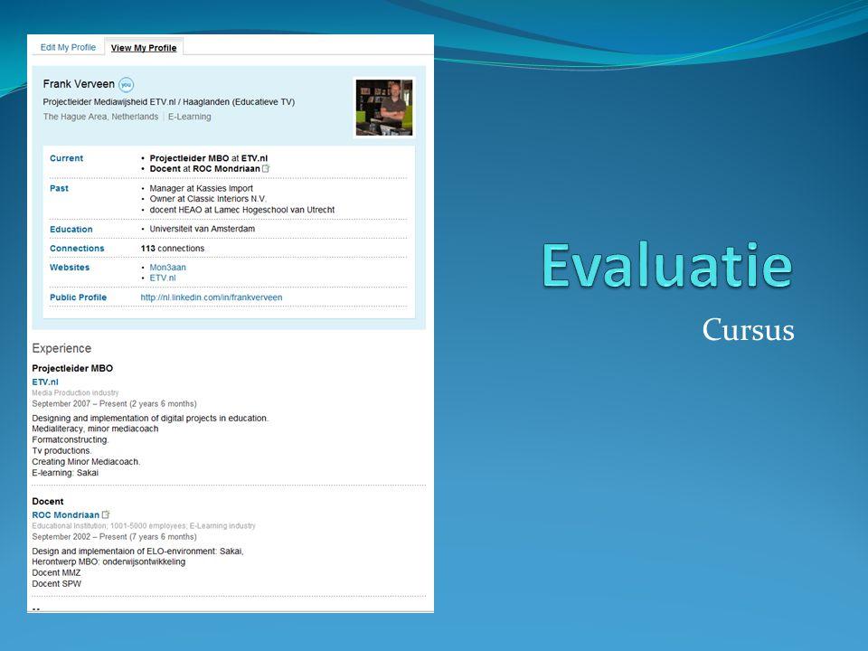 Evaluatie Cursus