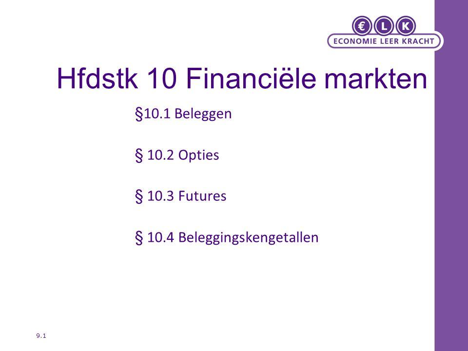 Hfdstk 10 Financiële markten