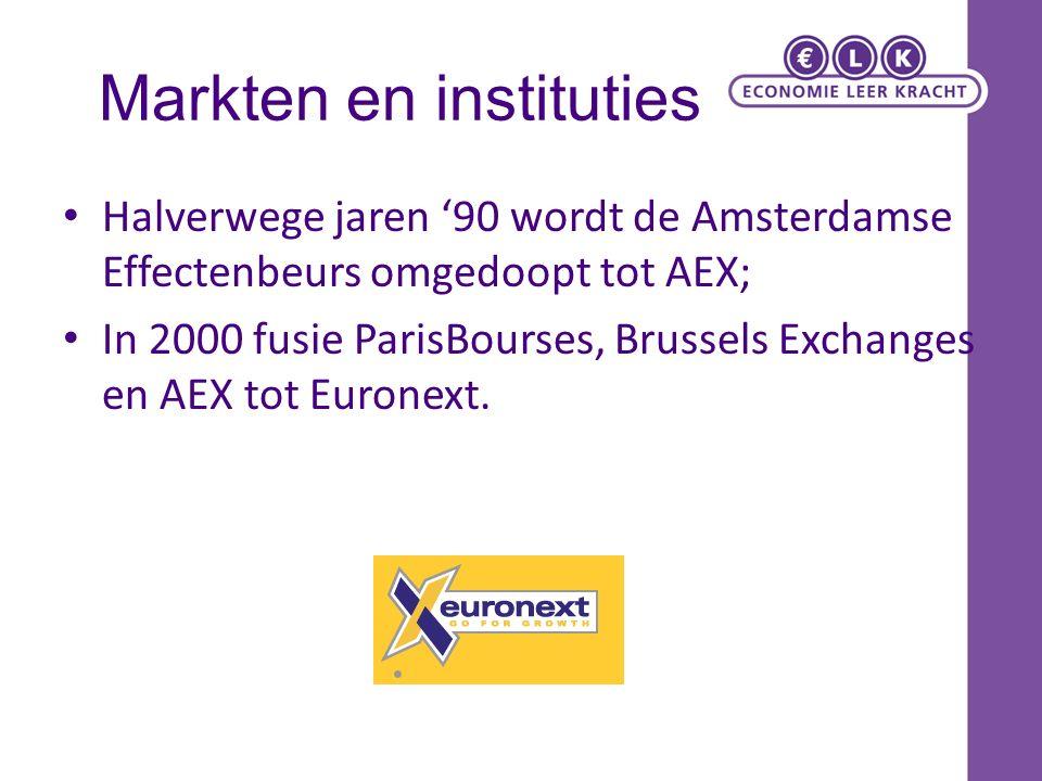 Markten en instituties