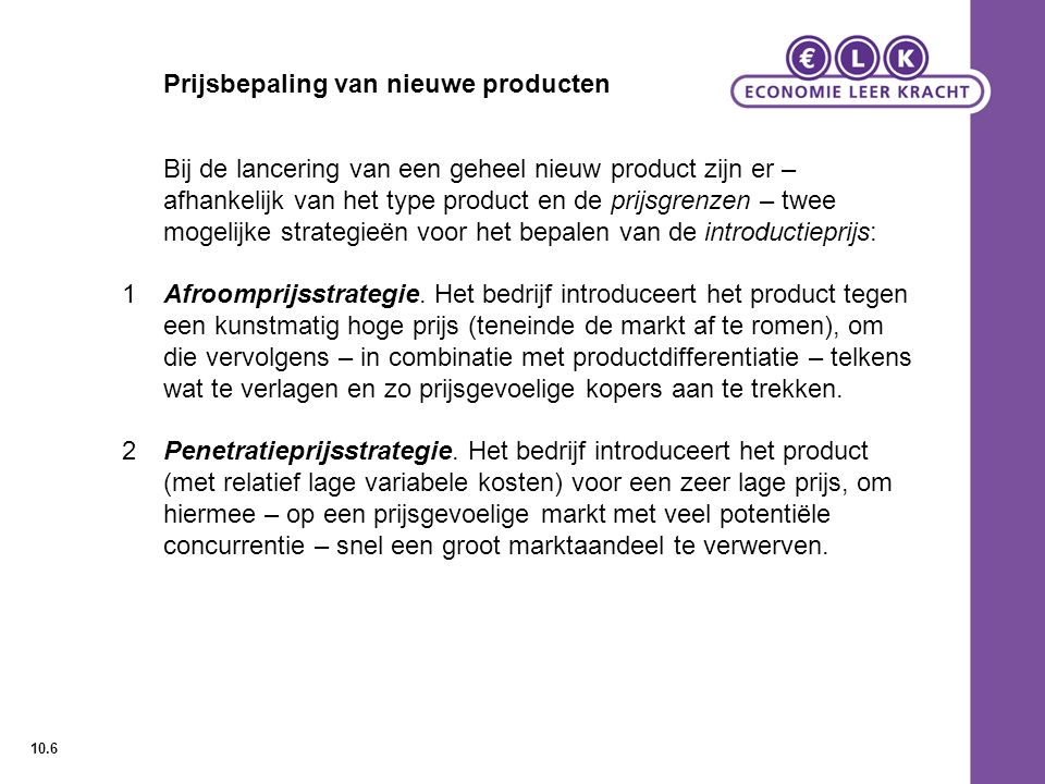 Prijsbepaling van nieuwe producten