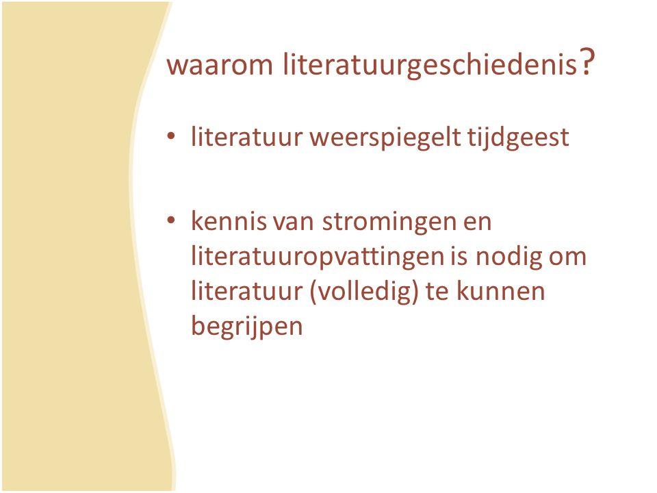 waarom literatuurgeschiedenis