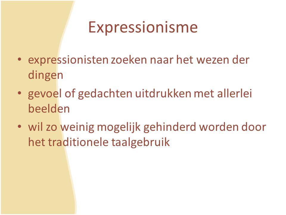 Expressionisme expressionisten zoeken naar het wezen der dingen