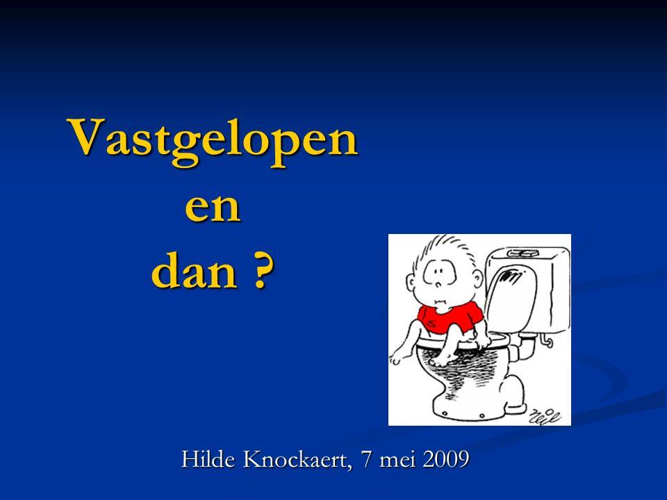 Vastgelopen en dan Hilde Knockaert, 7 mei 2009