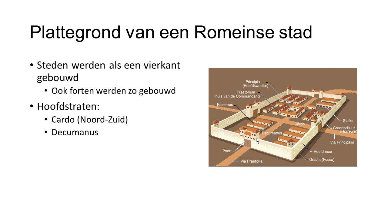 Plattegrond van een Romeinse stad