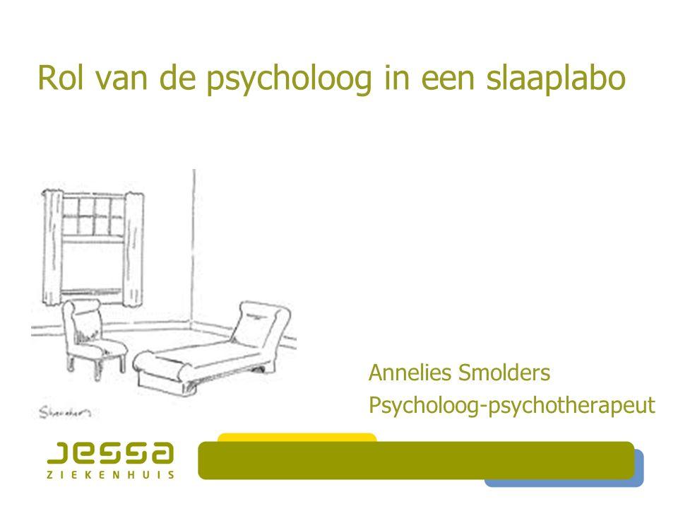 Rol van de psycholoog in een slaaplabo