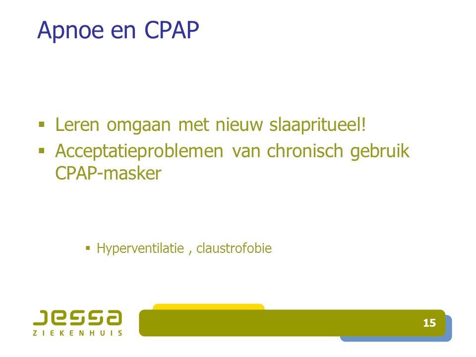 Apnoe en CPAP Leren omgaan met nieuw slaapritueel!