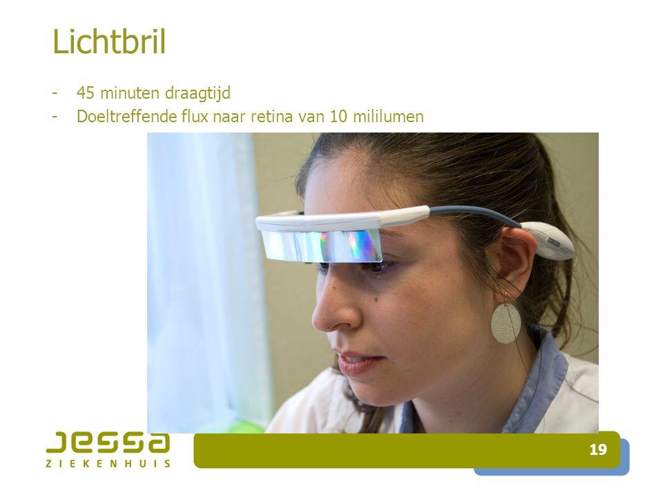 Lichtbril 45 minuten draagtijd
