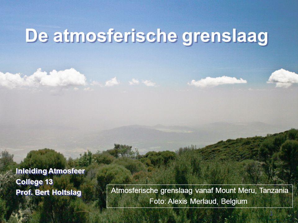 De atmosferische grenslaag
