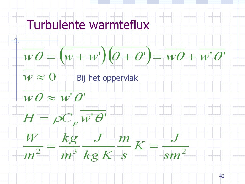 Turbulente warmteflux