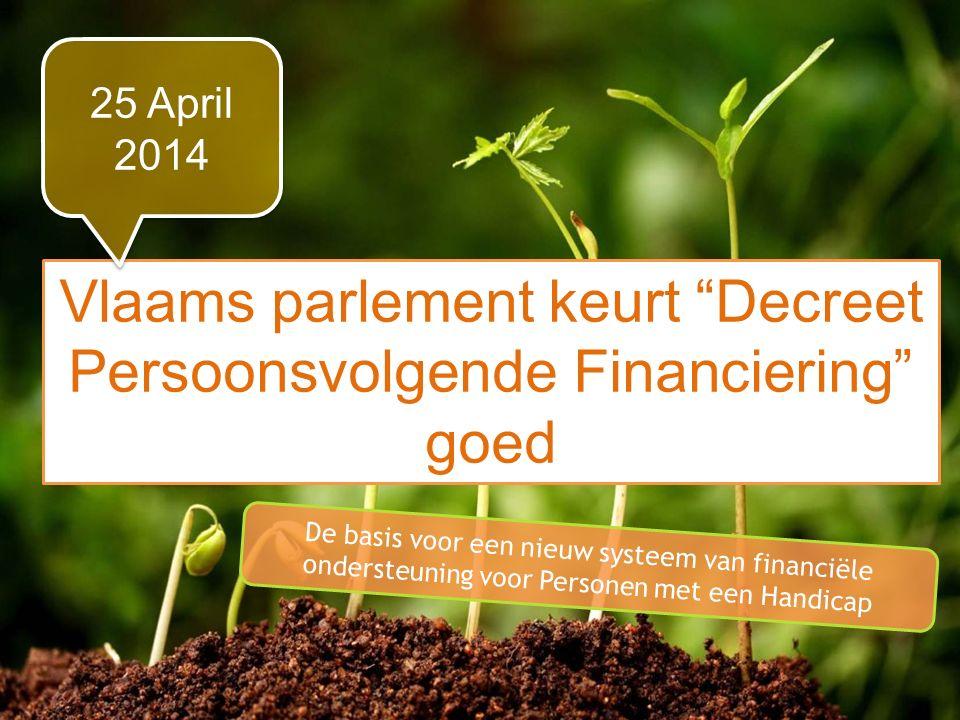 Vlaams parlement keurt Decreet Persoonsvolgende Financiering goed