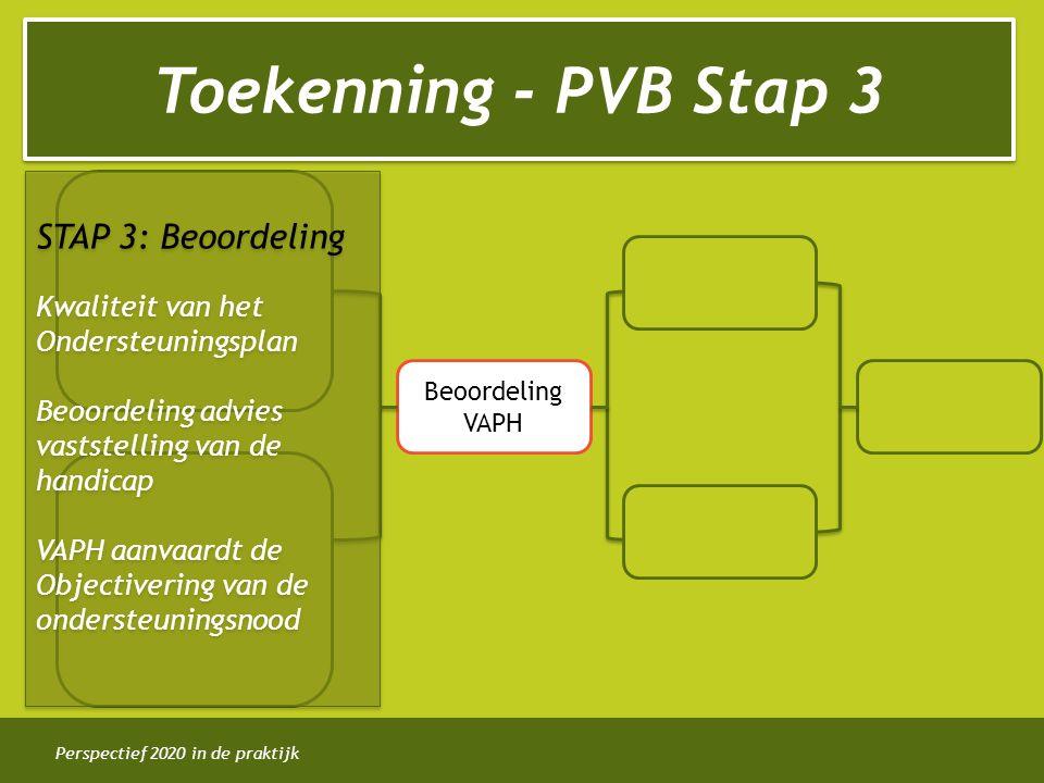 Toekenning - PVB Stap 3 STAP 3: Beoordeling