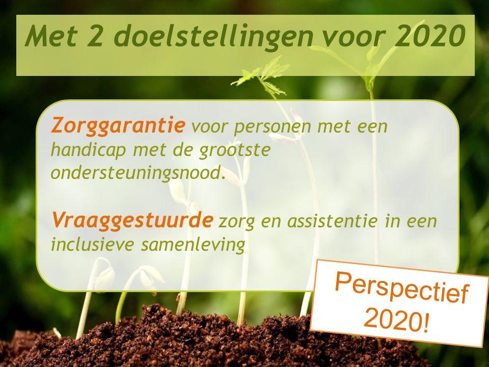 Met 2 doelstellingen voor 2020