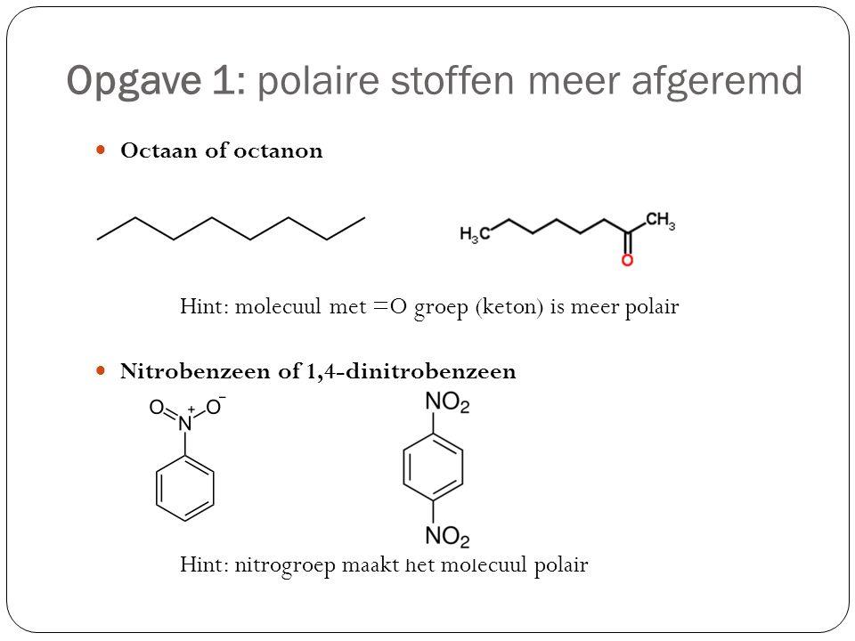 Opgave 1: polaire stoffen meer afgeremd