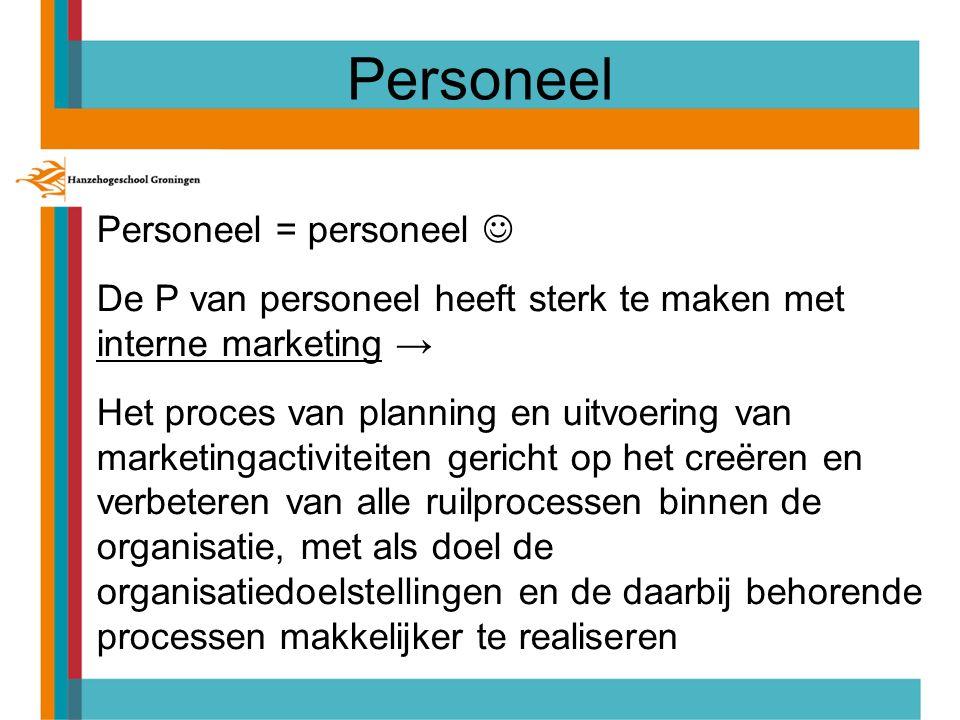 Personeel Personeel = personeel 