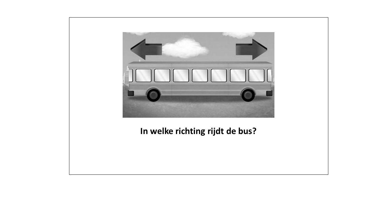 In welke richting rijdt de bus