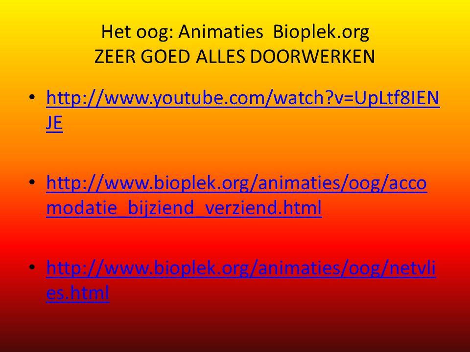 Het oog: Animaties Bioplek.org ZEER GOED ALLES DOORWERKEN