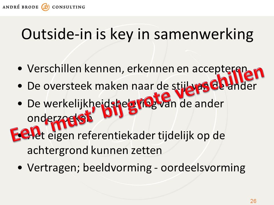 Outside-in is key in samenwerking