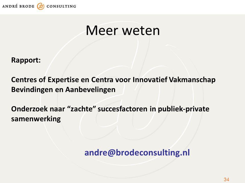 Meer weten andre@brodeconsulting.nl Rapport: