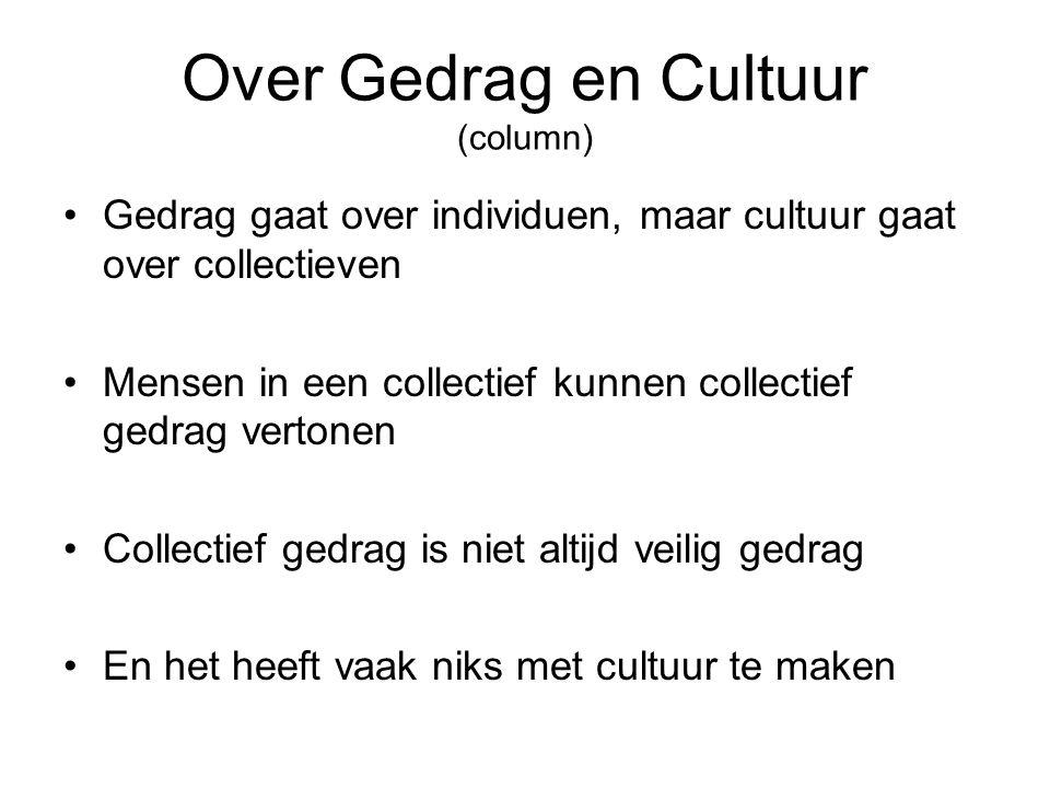 Over Gedrag en Cultuur (column)