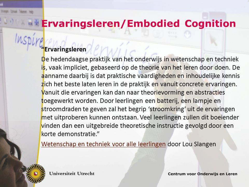 Ervaringsleren/Embodied Cognition