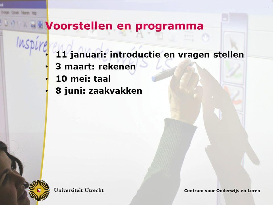 Voorstellen en programma
