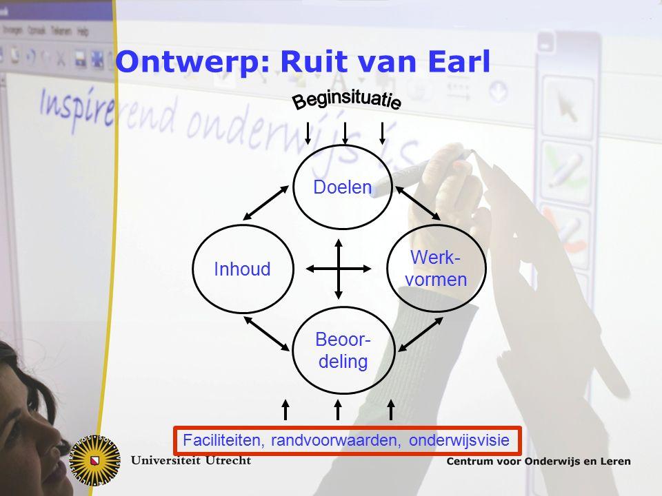 Ontwerp: Ruit van Earl Doelen Werk- Inhoud vormen Beoor- deling