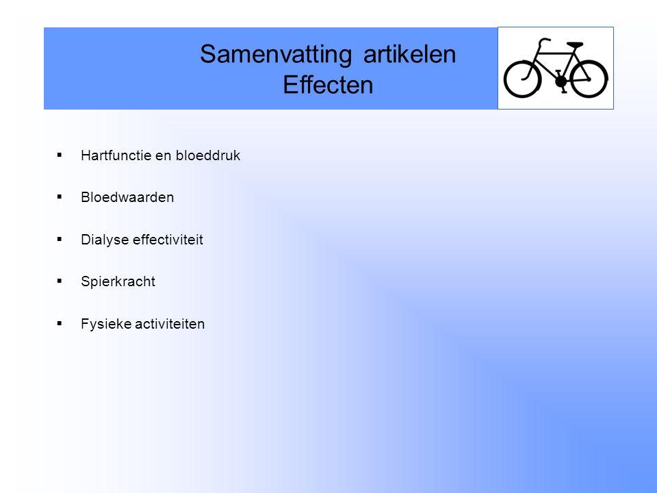 Samenvatting artikelen Effecten