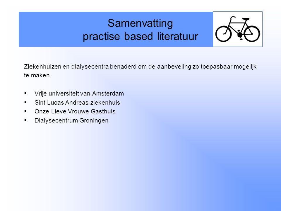 Samenvatting practise based literatuur