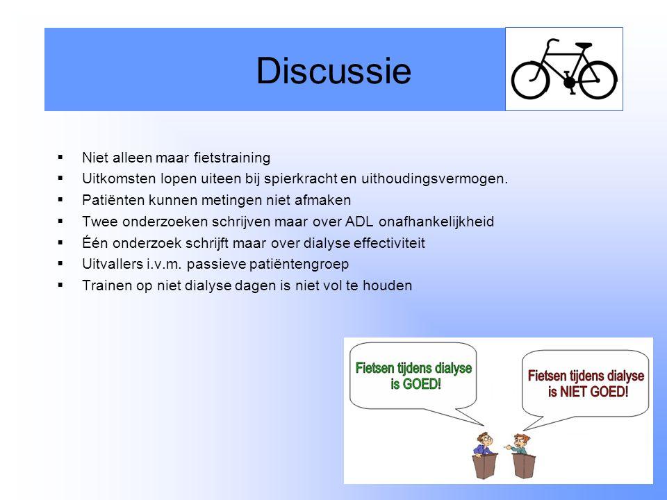 Discussie Niet alleen maar fietstraining