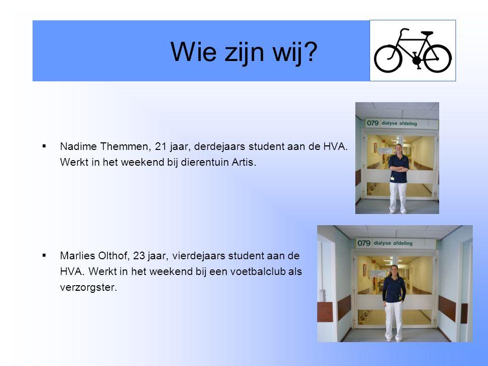 Wie zijn wij Nadime Themmen, 21 jaar, derdejaars student aan de HVA.