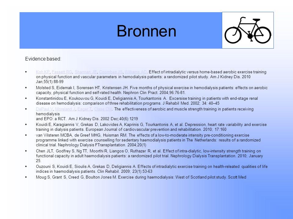 Bronnen Evidence based: