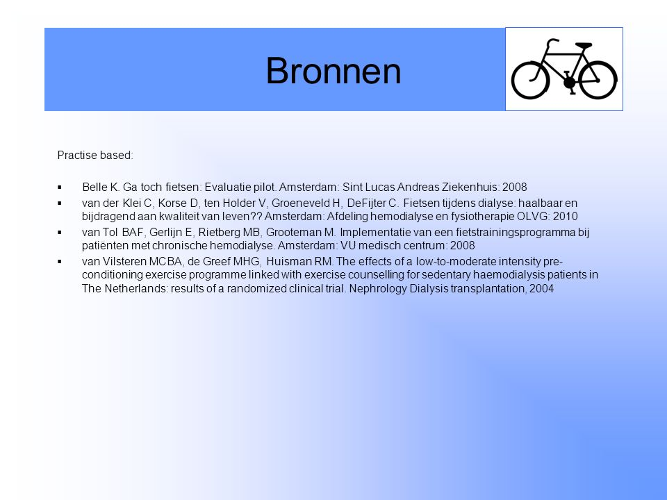 Bronnen Practise based: